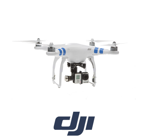 Dji Phantom 2 + H3-3D Model Helikopter